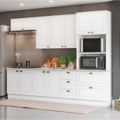Cozinha Modulada 5 Peças com Torre Quente 10 Portas 5 Gavetas Americana Henn - Branco HP Fosco