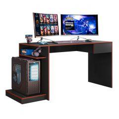 Escrivaninha Mesa de Computador Gamer 1 Gaveta Rubi Mobler - Preto/Vermelho