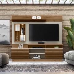 Estante Home Eldorado para TV até 65 Polegadas Linea Brasil - Avelã/Off White