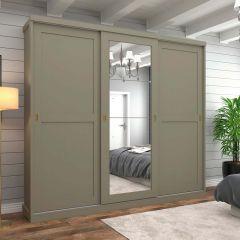 Guarda-roupa Casal com Espelho 3 Portas de Correr Olimpya Henn - Duna