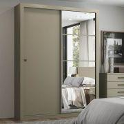 Guarda-roupa com Espelho 2 Portas de Correr Henn Alegro - Duna