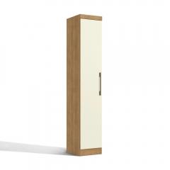 Guarda-roupa Modulado 40cm 1 Porta Prisma Kappesberg - Freijó/Off White