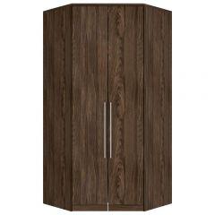 Guarda-roupa Modulado Closet de Canto 2 Portas Henn Diamante - Moka