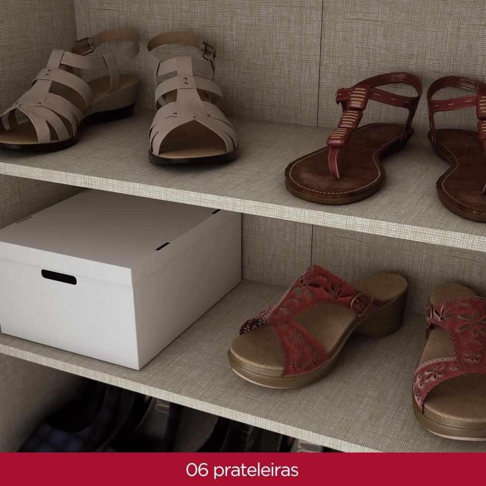 Armário Multiuso 2 Portas Henn Margarida - Café  - Loja Veneza