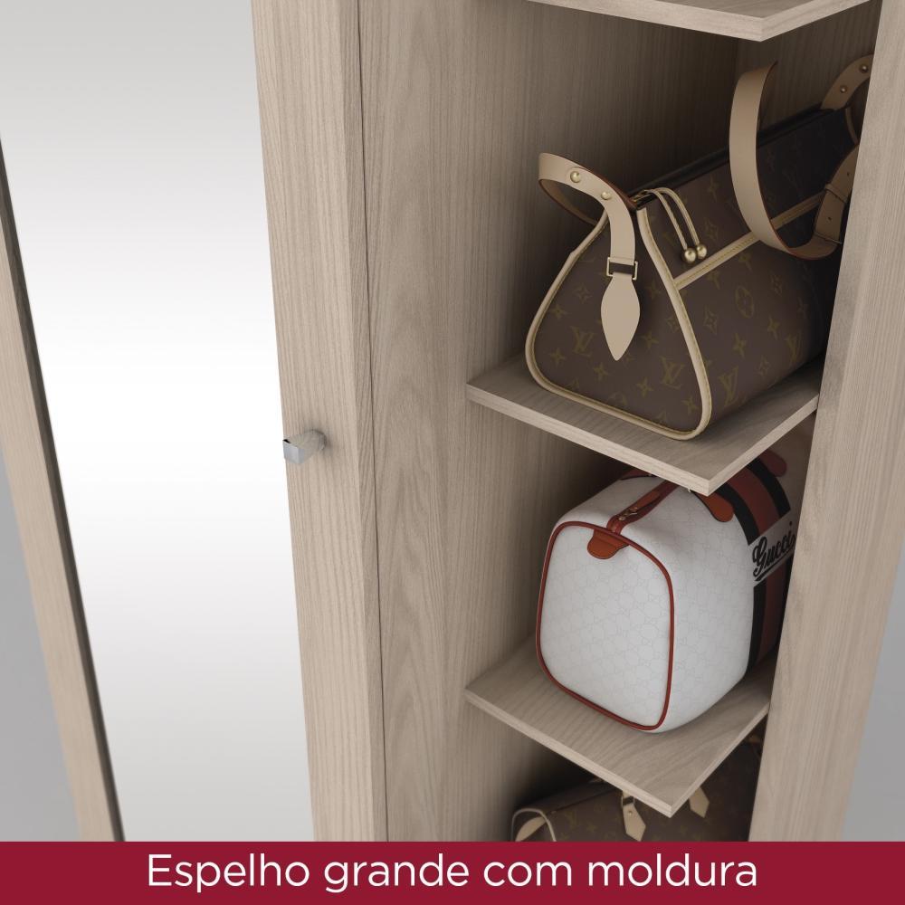Armario Sapateira com Espelho 1 Porta Henn Duetto - Fendi  - Loja Veneza