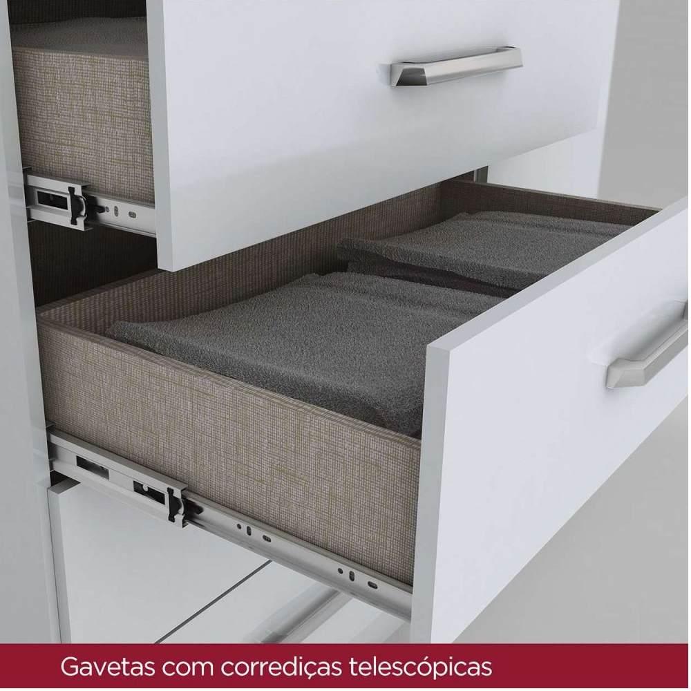 Cômoda 4 gavetas e 1 porta Henn Magno - Branco  - LOJA VENEZA