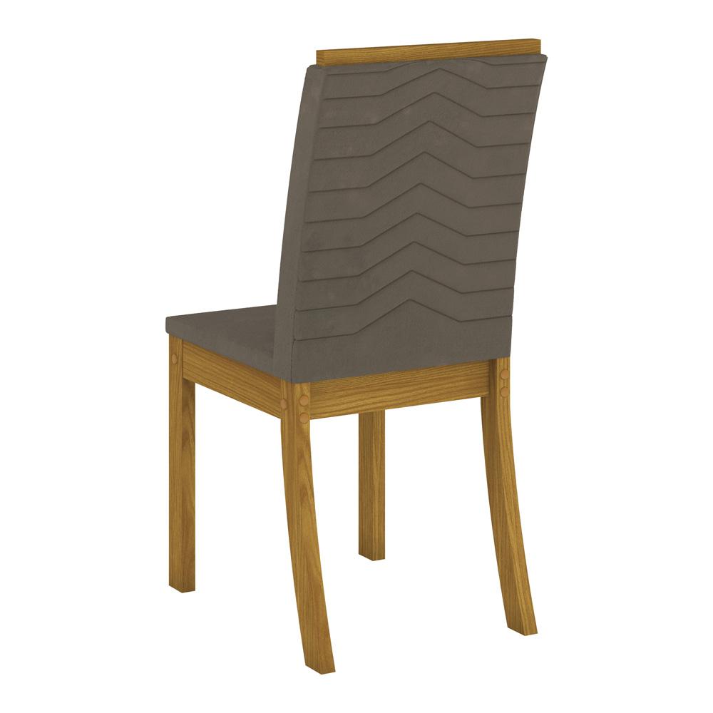 Conjunto com 4 Cadeiras Dina para Sala de Jantar Henn - Nature/Bege  - Loja Veneza