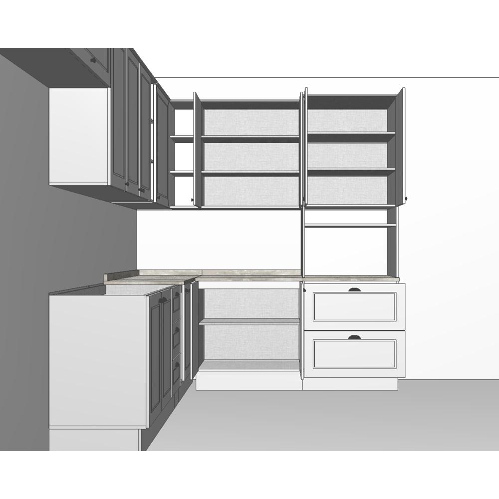 Cozinha Modulada de Canto 10 peças com Torre Quente Americana Henn - Branco HP Fosco  - Loja Veneza
