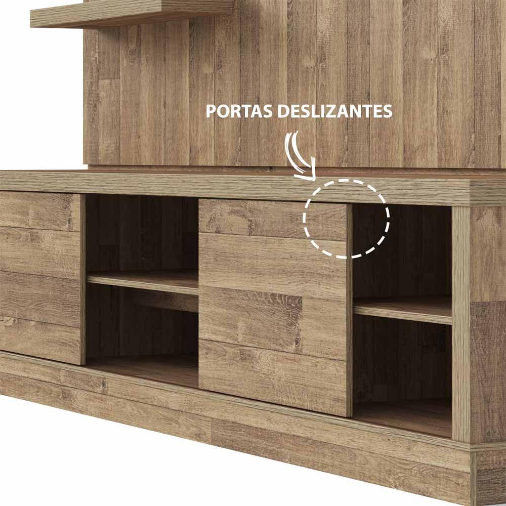 Estante Home Boss 2.2 para TV até 60 Polegadas Artely - Rústico  - LOJA VENEZA