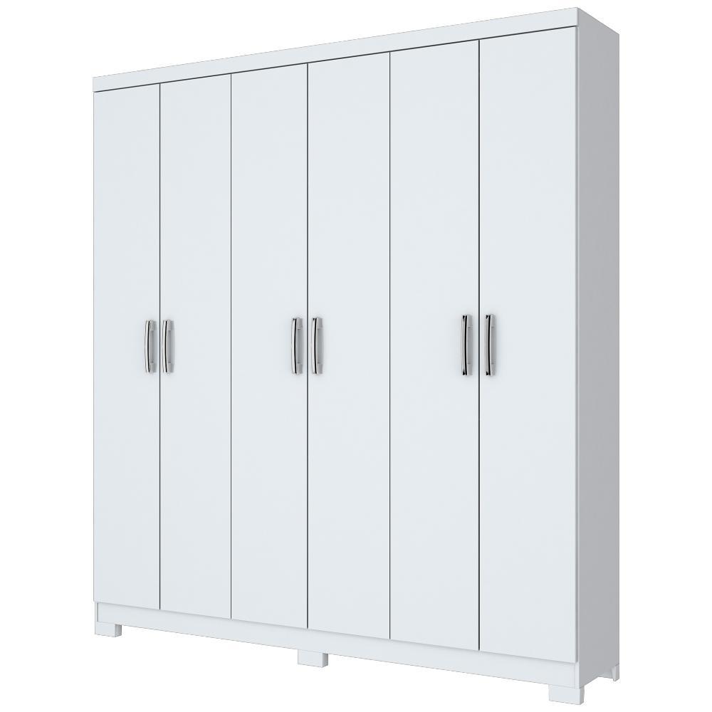 Guarda-roupa 6 Portas Briz B50 - Branco
