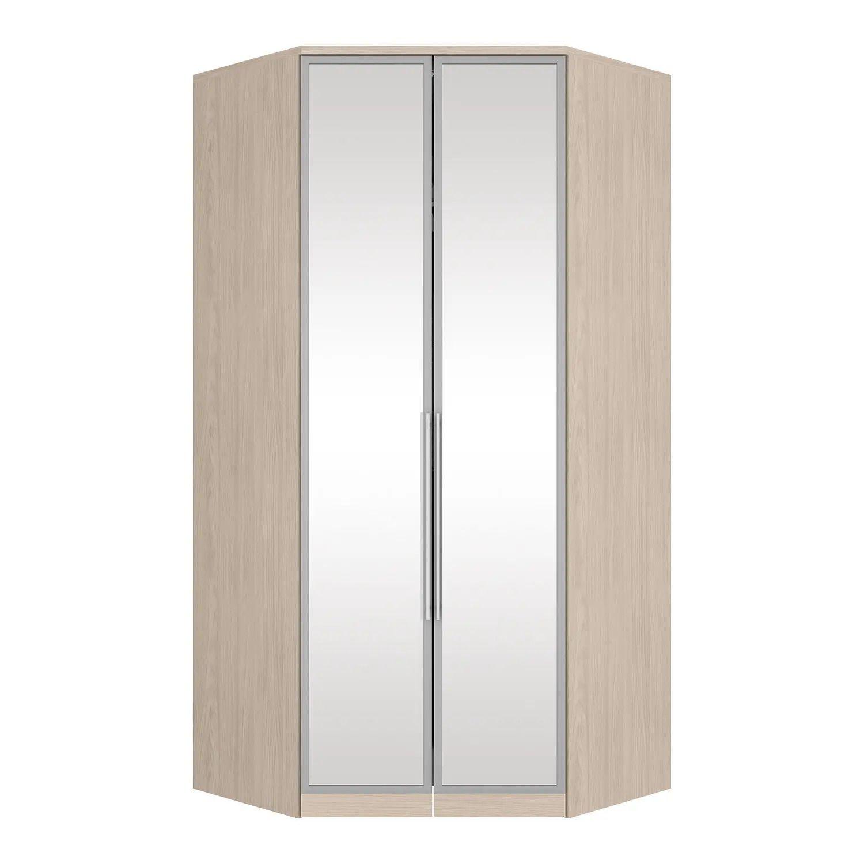 Guarda-roupa Canto Closet 2 Portas com Espelho e Cantoneiras Diamante Henn - Fendi  - LOJA VENEZA