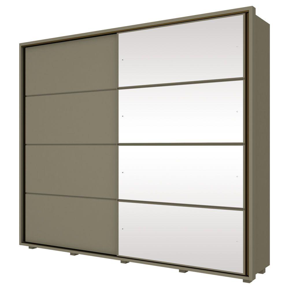 Guarda-roupa Casal 100% MDF com Espelho 2 Portas de Correr Henn Cavic - Duna