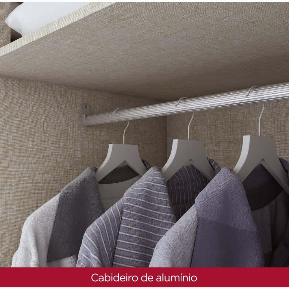 Guarda-roupa Casal 10 Portas 4 Gavetas com Espelho Henn Viena - Rústico  - Loja Veneza