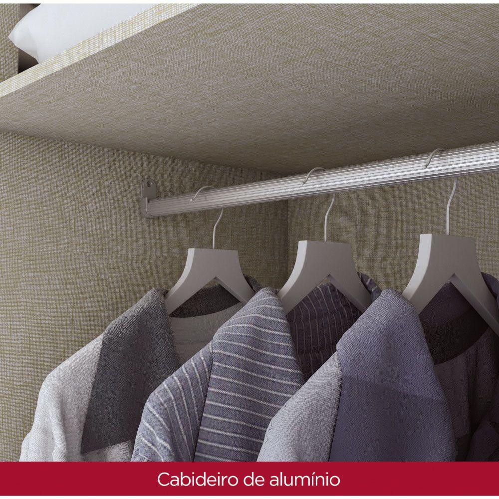 Guarda-roupa Casal 10 Portas 4 Gavetas com Espelho Henn Viena - Rústico/Off White  - Loja Veneza