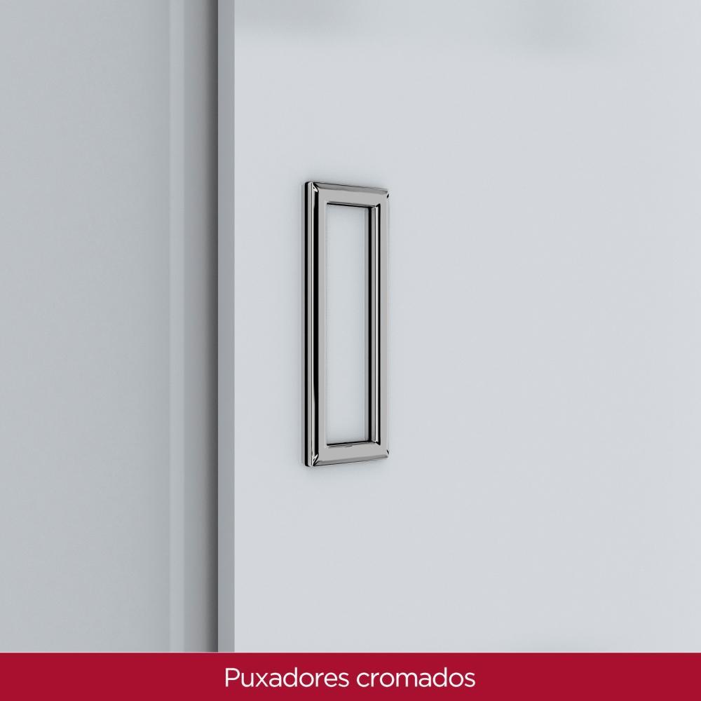 Guarda-roupa Casal 3 Portas de Correr 9 Gavetas Henn Uran - Branco  - Loja Veneza