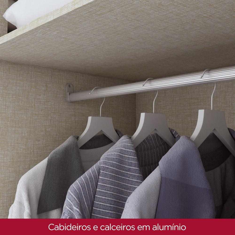 Guarda-roupa Casal 6 Portas 3 Gavetas Henn Econ - Rústico  - Loja Veneza