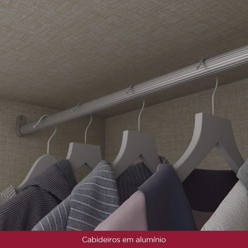 Guarda-roupa Casal 6 Portas 9 Gavetas Henn Lara - Branco  - Loja Veneza