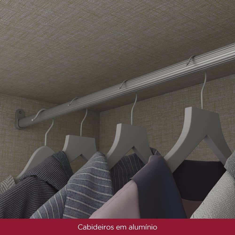 Guarda-roupa Casal 6 Portas 9 Gavetas Henn Lara - Moka  - Loja Veneza
