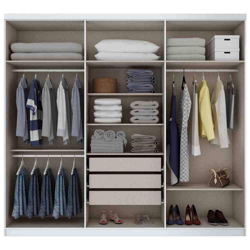 Guarda-roupa Casal 6 Portas Henn Jade - Branco  - Loja Veneza