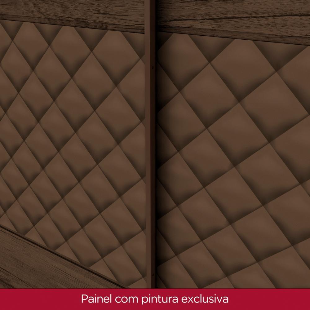 Guarda roupa de Casal 3 Portas de Correr Henn Amaro - Café  - Loja Veneza