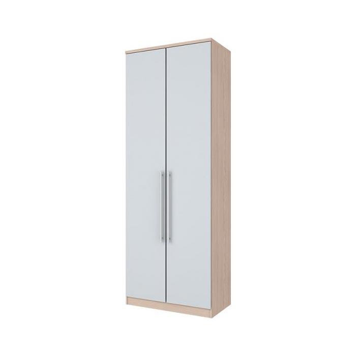Guarda-roupa Modulado 2 Portas 3 Gavetas Henn Diamante - Fendi/Branco HP  - Loja Veneza