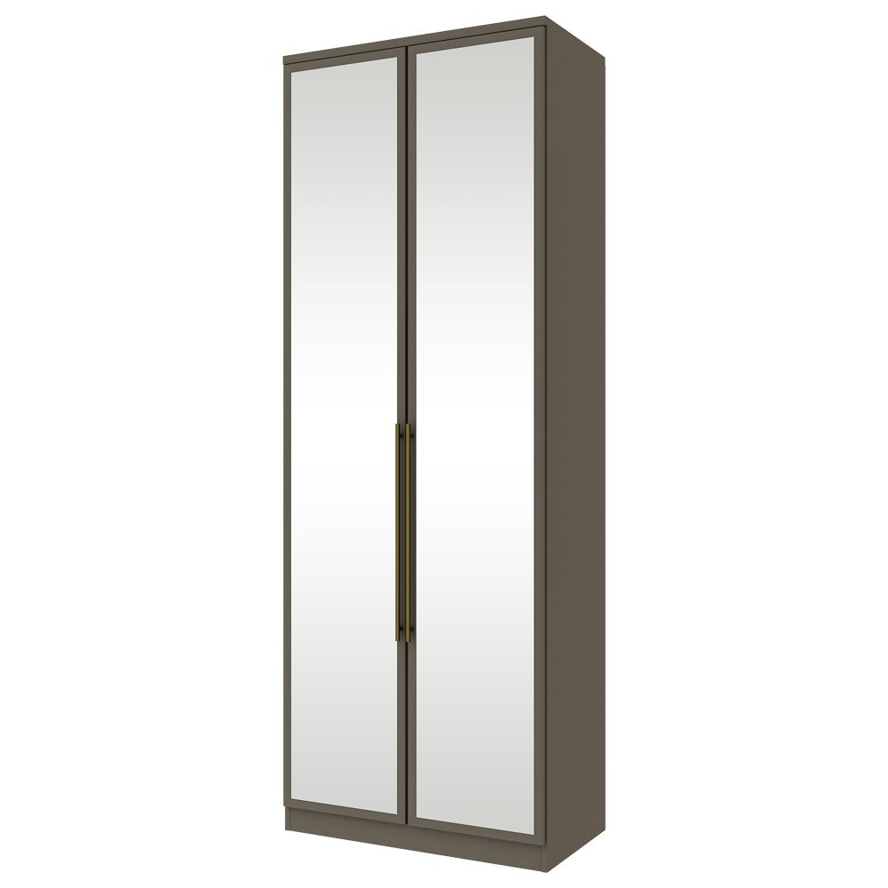 Guarda-roupa Modulado 2 Portas com Espelho 3 Gavetas Henn Diamante - Damasco  - LOJA VENEZA