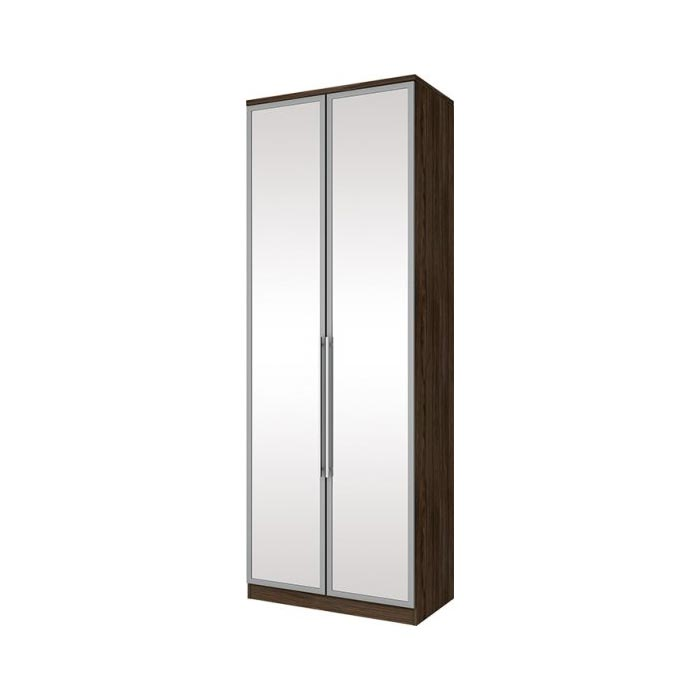Guarda-roupa Modulado 2 Portas com Espelho 3 Gavetas Henn Diamante - Moka  - Loja Veneza