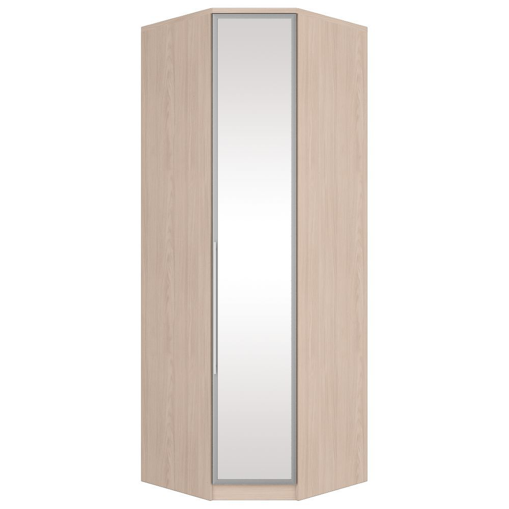 Guarda-roupa Modulado Canto Oblíquo 1 Porta com Espelho Henn Diamante - Fendi  - Loja Veneza
