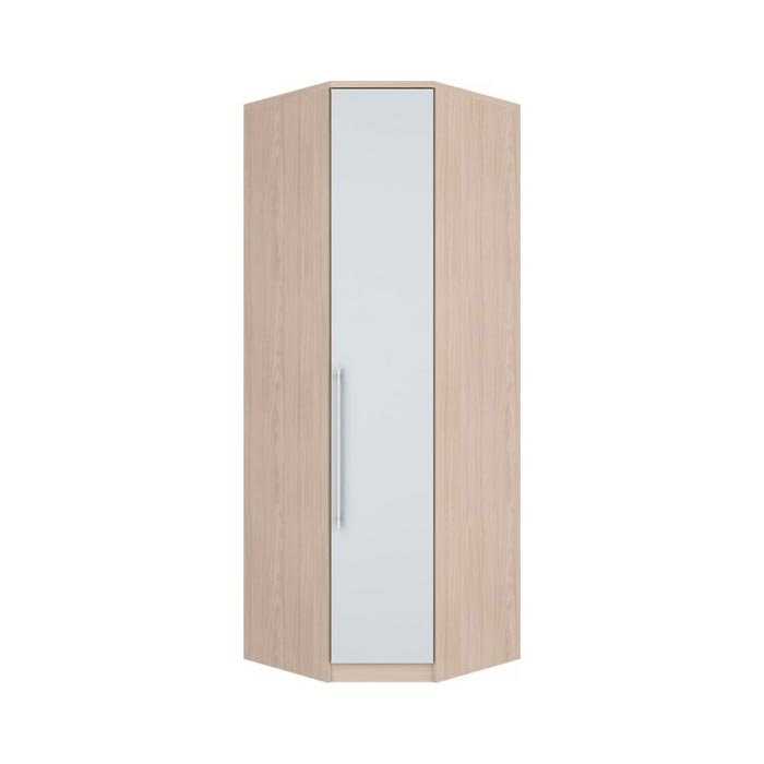 Guarda-roupa Modulado Canto Oblíquo 1 Porta Henn Diamante - Fendi/Branco HP  - Loja Veneza