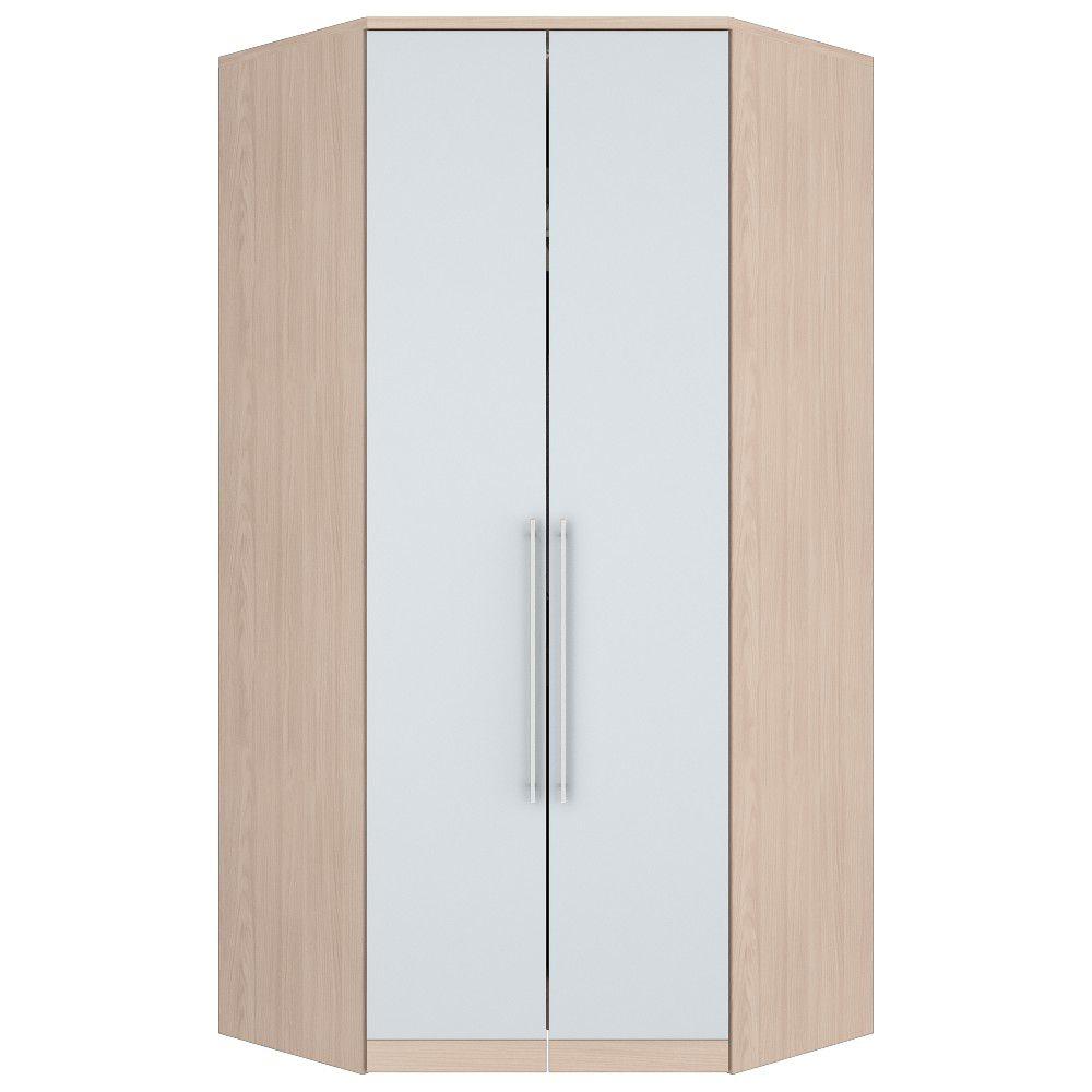 Guarda-roupa Modulado Closet de Canto 2 Portas Henn Diamante - Fendi/Branco HP  - Loja Veneza