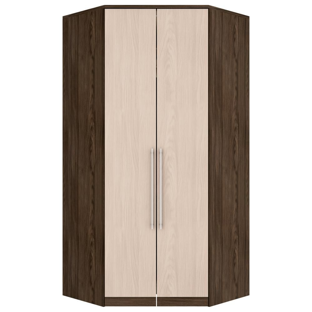 Guarda-roupa Modulado Closet de Canto 2 Portas Henn Diamante - Moka/Fendi