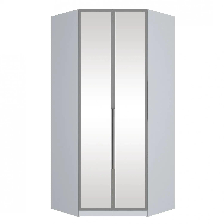 Guarda-roupa Modulado de MDF Canto Closet 2 Portas com Espelho Henn Exclusive - Branco HP  - LOJA VENEZA