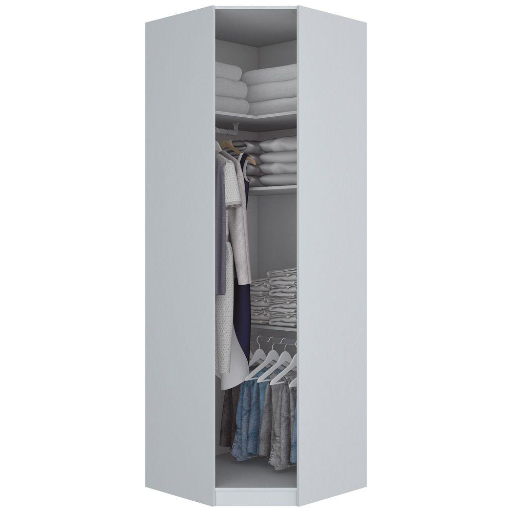 Guarda-roupa Modulado de MDF Canto Oblíquo 1 Porta Henn Exclusive - Branco HP  - LOJA VENEZA