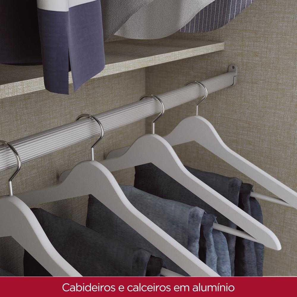 Guarda roupa Solteiro 2 Portas de Correr Henn Dakota - Café  - Loja Veneza