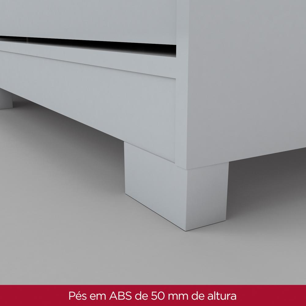 Guarda roupa Solteiro 2 Portas de Correr Henn Dakota - Flex Color Branco/Rosa  - Loja Veneza