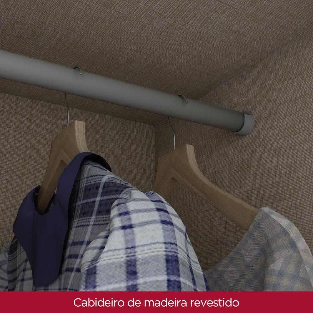 Guarda-roupa Solteiro 3 Portas 2 Gavetas Henn Açaí - Moka/Fendi  - Loja Veneza