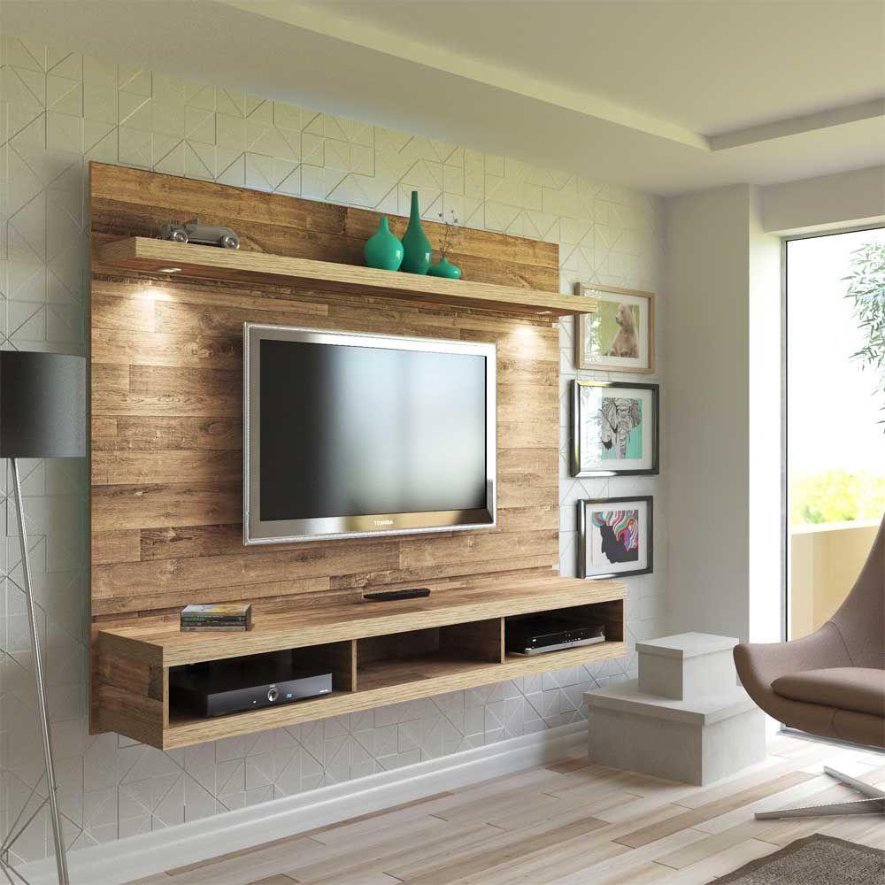Painel Evolution para TV até 60 Polegadas com Luminária LED Artely - Rústico  - LOJA VENEZA