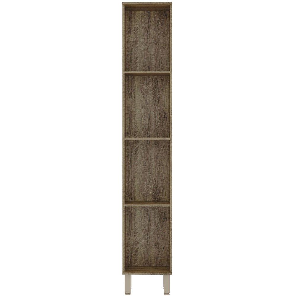 Paneleiro 35 cm Simples 2 Portas Sara Modulado Luciane - Castanho/Pérola Off  - Loja Veneza