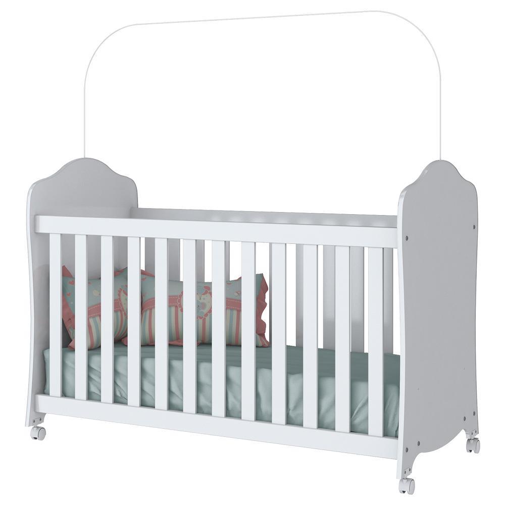 Quarto de Bebê Completo com Berço Arco Iris, Cômoda e Guarda-roupa Bala de Menta Henn - Branco  - Loja Veneza