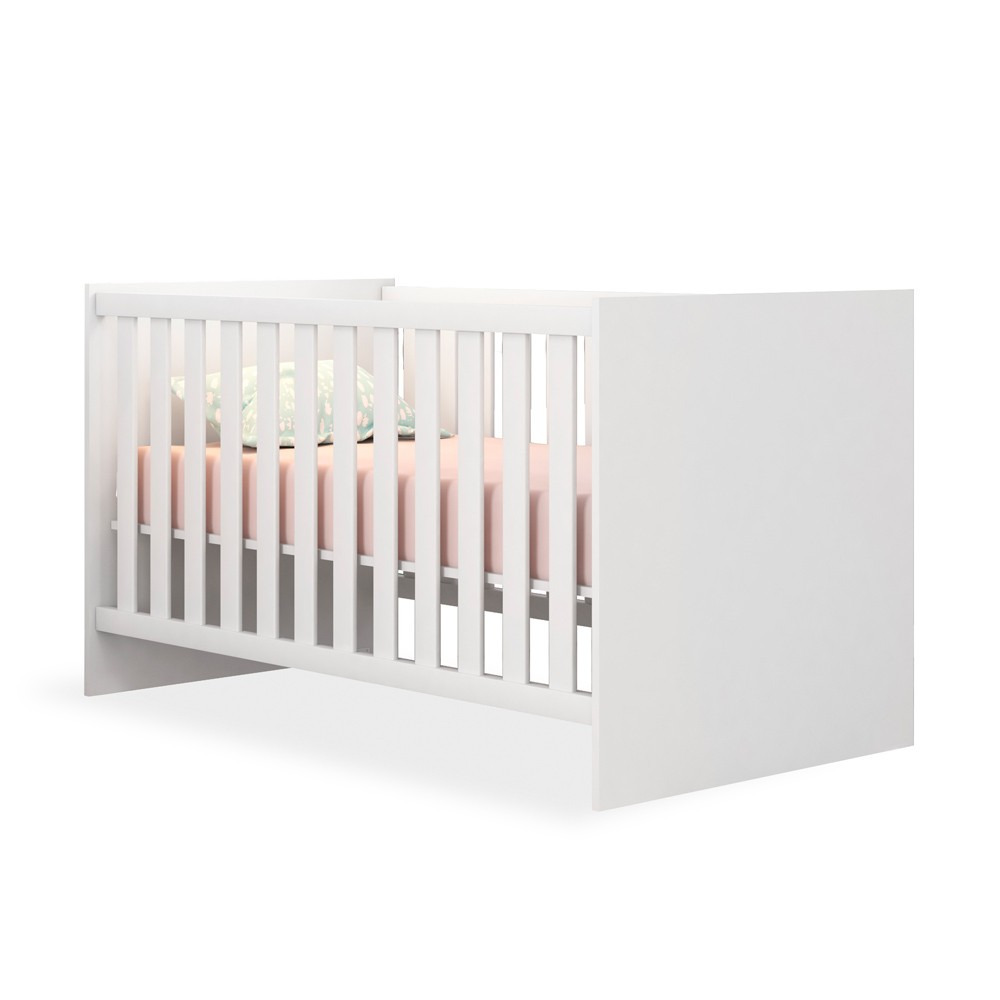Quarto de Bebê Completo com Guarda-roupa Módulo Infantil, Berço e Cômoda Doce Sonho Qmovi - Branco  - Loja Veneza