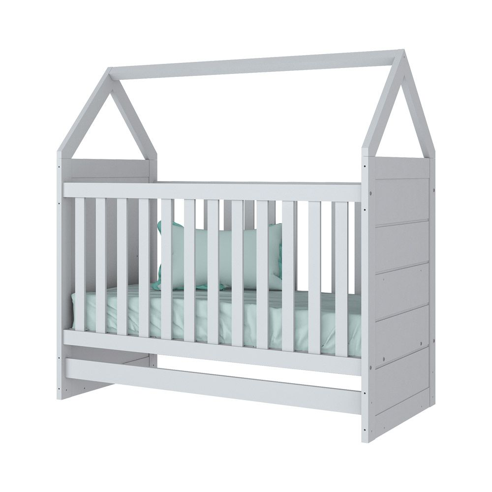 Quarto de Bebê Completo Com Berço Montessoriano, Cômoda E Guarda-roupa Americano Henn - Branco HP Fosco  - LOJA VENEZA