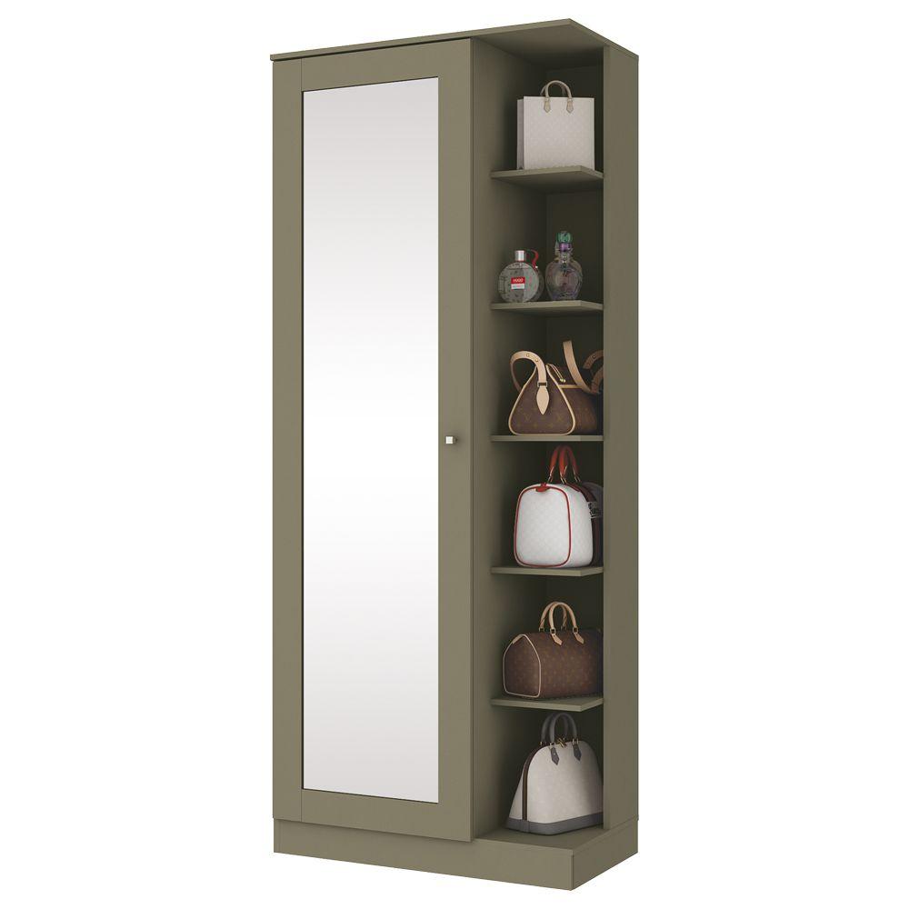 Sapateira com Espelho 1 Porta Henn Duetto - Duna  - Loja Veneza