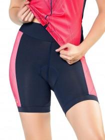 Bermuda Para Ciclismo Feminina Elite Marinho e Laranja