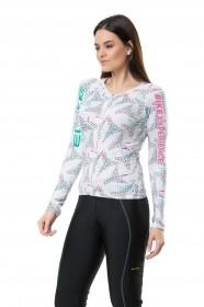 Blusa Para Ciclismo Feminina Elite Branco