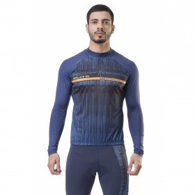 Camisa Ciclismo Esportiva Manga Longa Masculina Elite