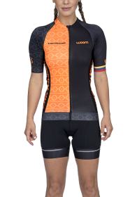 Camisa Ciclismo Supreme Cartagena Preto Feminino Woom