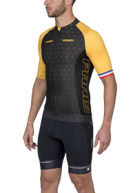Camisa Ciclismo Supreme Paris Amarelo Masculino Woom