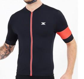 Camisa Ciclismo Ultra Masculina DX3 Preta e Vermelha