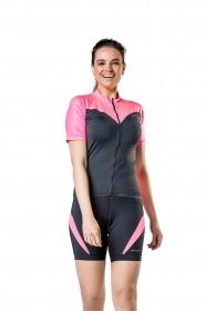 Camisa Para Ciclismo Bike Feminina Elite Preto e Pink