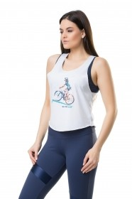 Camiseta Regata Estampada Feminina Elite
